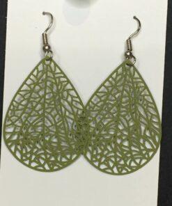 Olive filligree earrings