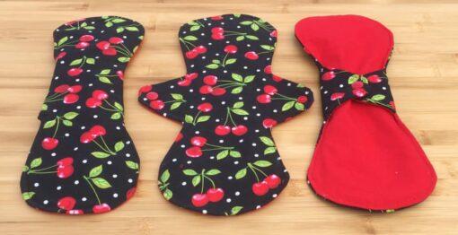 cherry menstrual cloth pads
