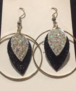 leaf earrings faux leather