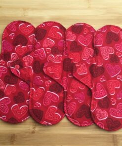 cloth pads red hearts