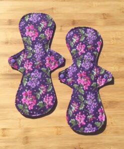 clothpadpurpleflowers