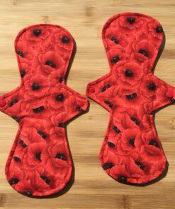 cloth pads poppy large